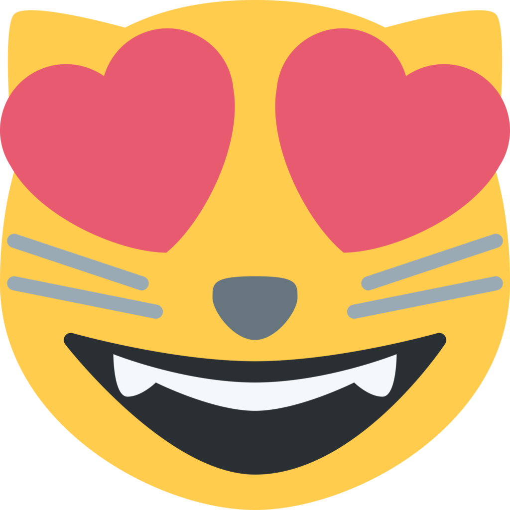 Emoji Cat Heart Eyes Png
