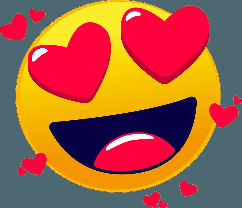 Heart eyes emoji clipart Free download transparent PNG