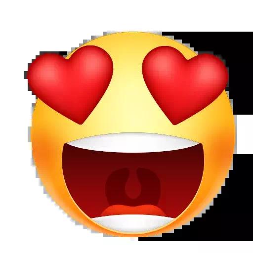 Heart Eyes Emoji PNG Transparent Image  PNG Mart