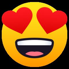Heart Eyes Emoji en 2020  Emojis de iphone Emojis Iphone