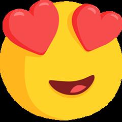 Smiling Face With HeartEyes on Messenger 10  Emoji