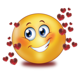 in love with red glossy flying hearts stickers  Emoticons