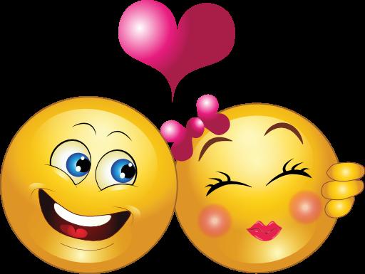Adorable Smiley Couple  Symbols  Emoticons