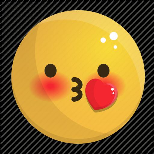 Emoji emotion face feeling heart kiss icon