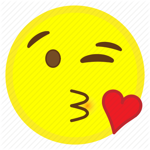 Emoji face heart hovytech kiss love throwing icon