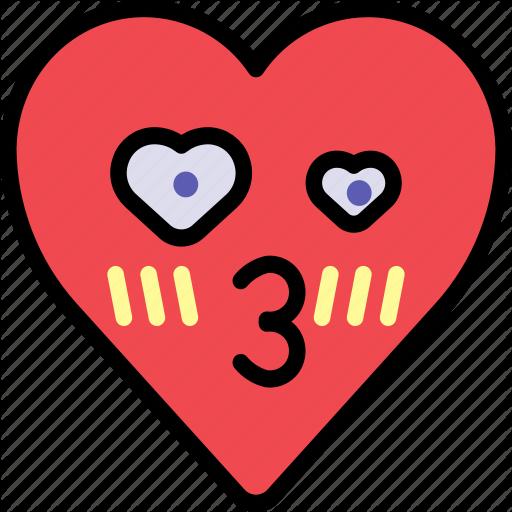 Crush emoji emotion heart kiss love icon