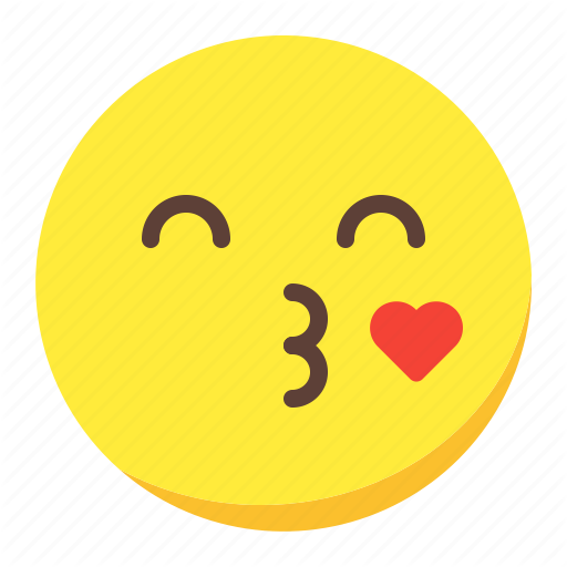 Emoji emoticon face heart kiss icon  Download on