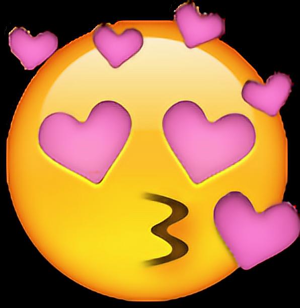 emoji heart pink edit kiss love sticker