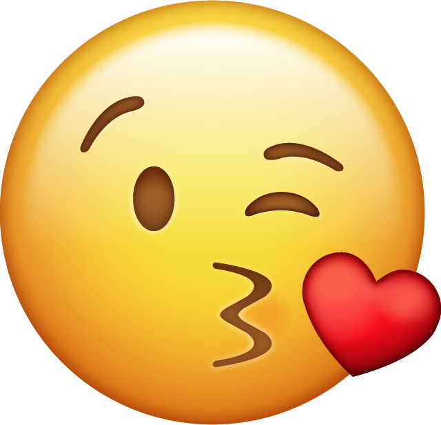Download Kiss With Heart Iphone Emoji Icon in JPG and AI