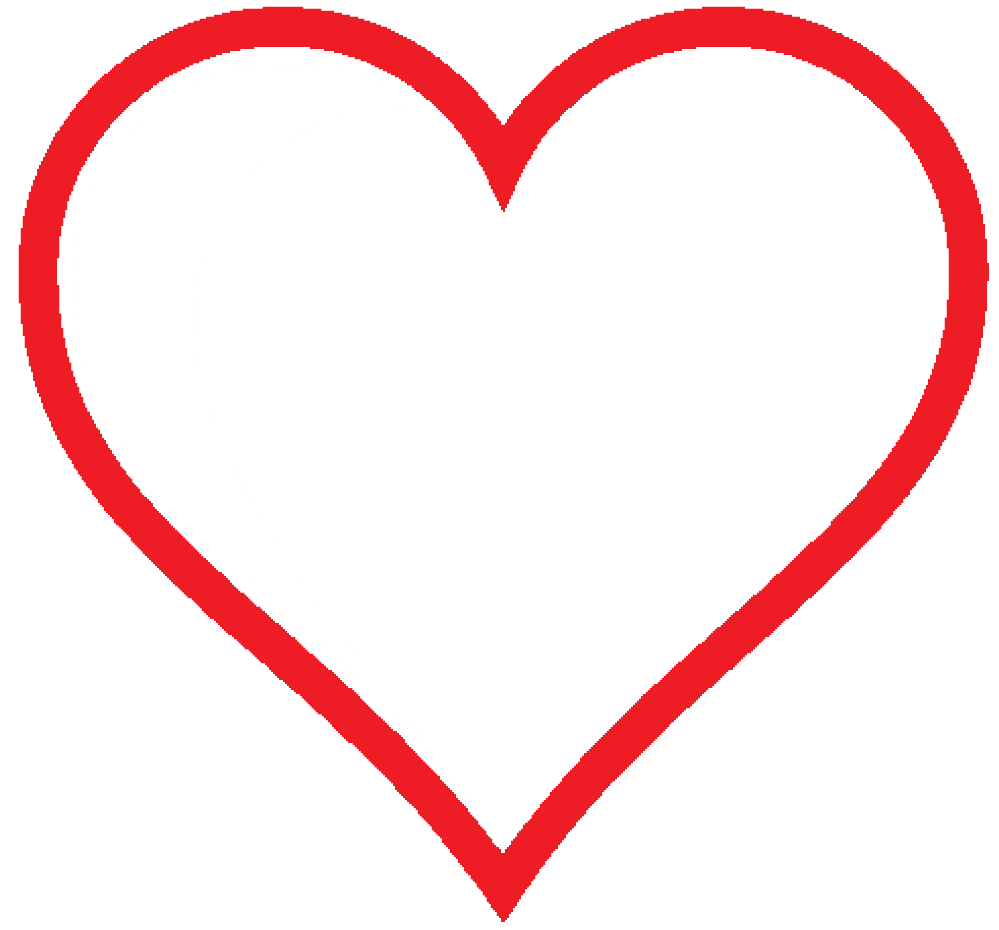 Clip Art heart icon red hollow valentine SVG  ClipArt