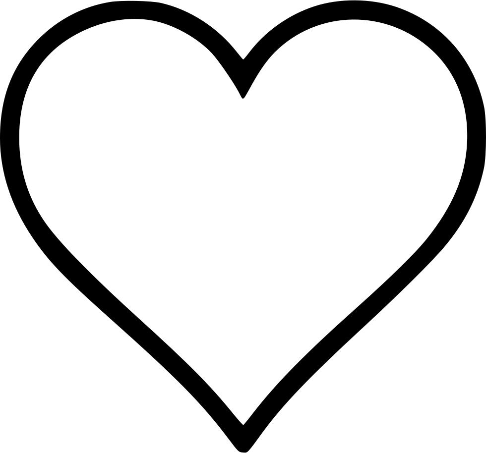 Download Transparent Black Heart Outline Png Vector