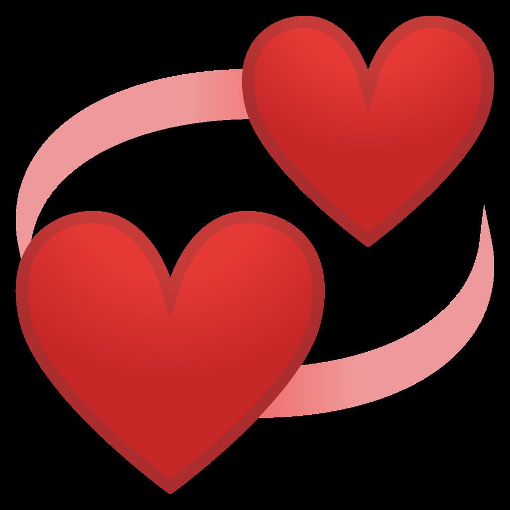 Revolving hearts Icon  Noto Emoji People Family  Love