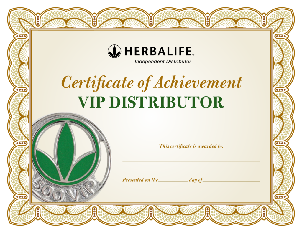 Distributor Certificate Of Achievement  How to create a