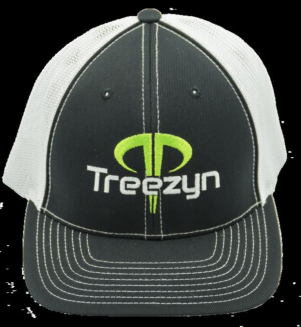 White Black Green Logo Hat  Treezyn
