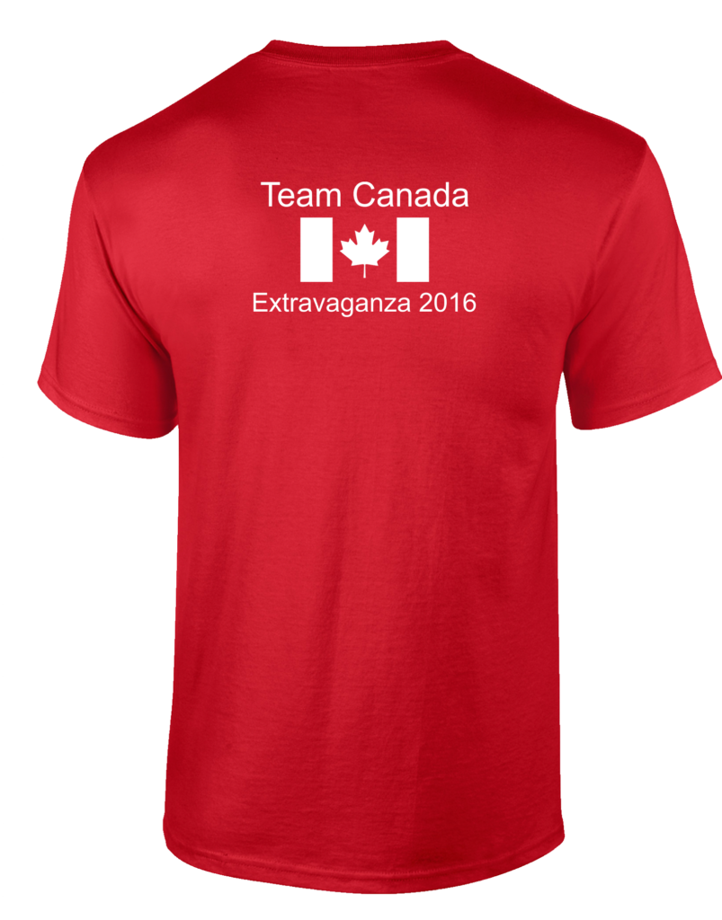 Men Tee Back for Team Canada for the Extravaganza 2016 at