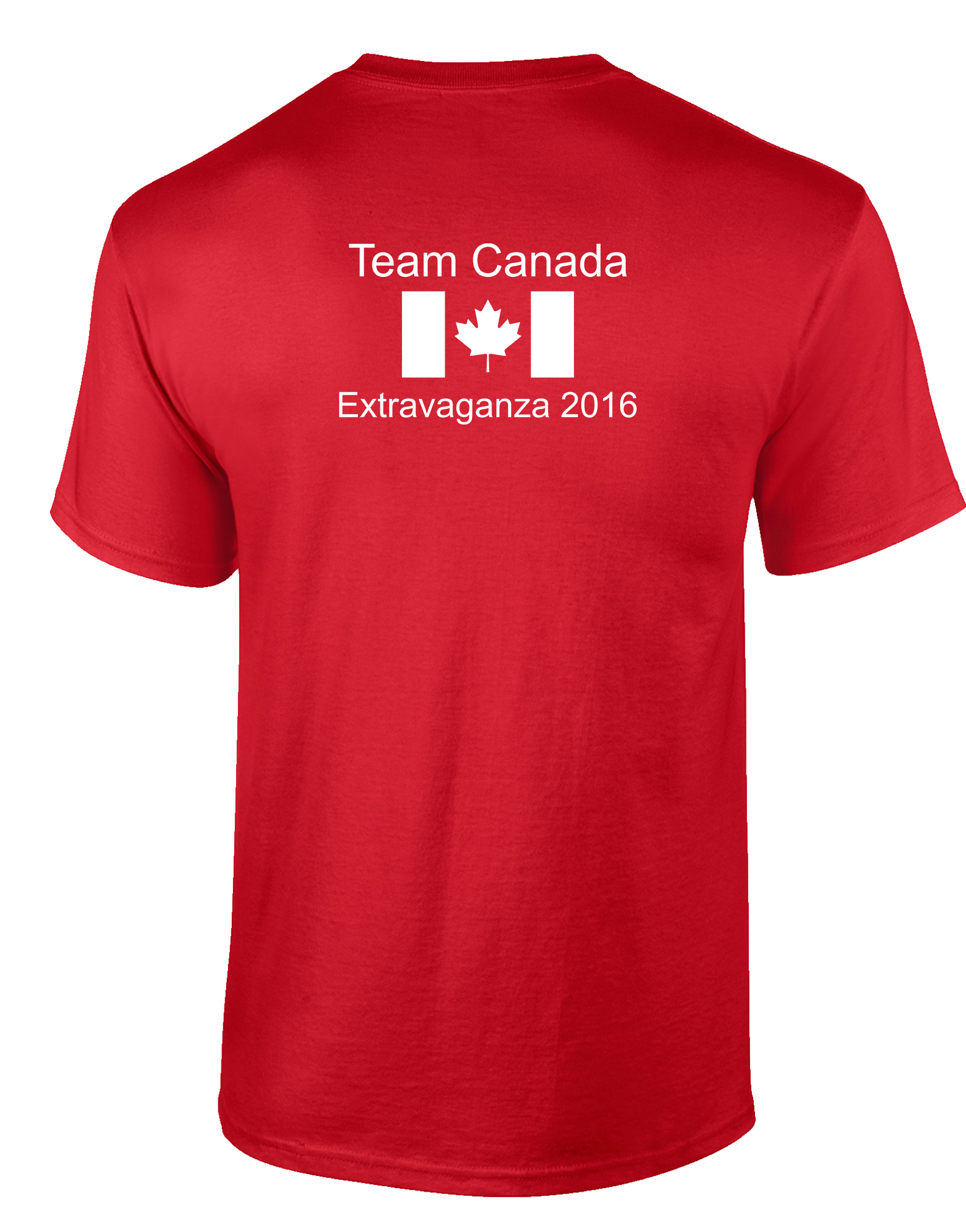 Men Tee Back for Team Canada for the Extravaganza 2016 at ... - Herbalife Logo Shirts