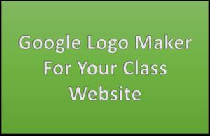 Google Logo Maker For Your Class Website  Google logo