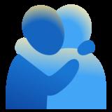 People Hugging Emoji on Google Android 110