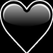 black heart emoji whatsapp instagram tumblr girl