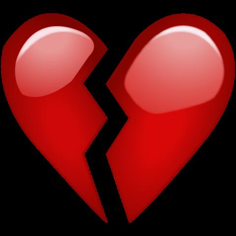 Image result for heart break emoji  Heart emoji Broken