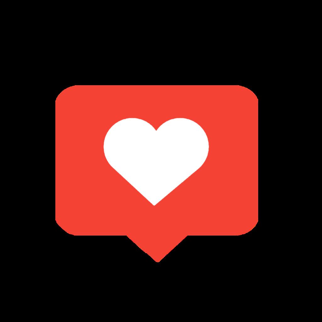 instagram love like red heart