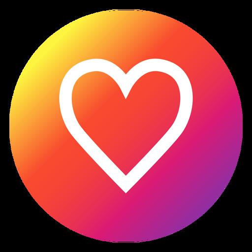 Instagram heart button  Transparent PNG  SVG vector file