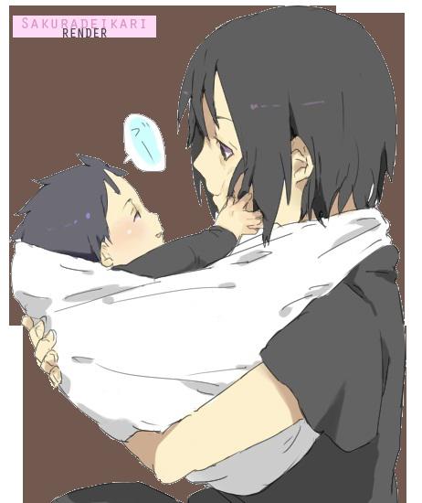Itachi Uchiha and Sasuke Baby by Sakuradeikari on DeviantArt