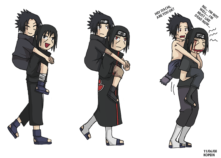 Moment of Itachi and Sasuke  Itachi Sasuke Anime