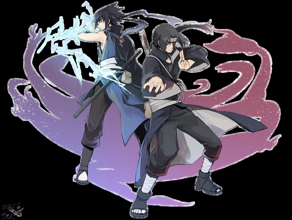 Sasuke and Itachi Render by Dragha on DeviantArt
