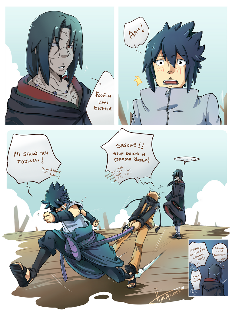 Narusasuita - Foolish lil' brother by msloveless on ... - Itachi Funny