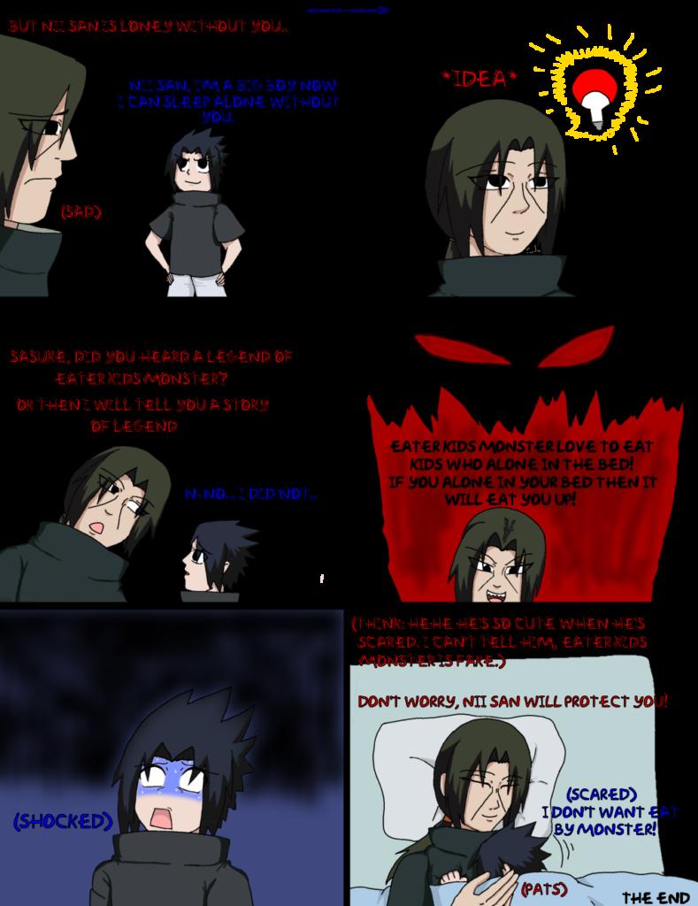 Itachi scared Sasuke by UchihaClanRock on DeviantArt