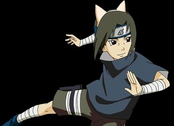 Kid Itachi Neko render 3 Naruto Mobile by maxiuchiha22