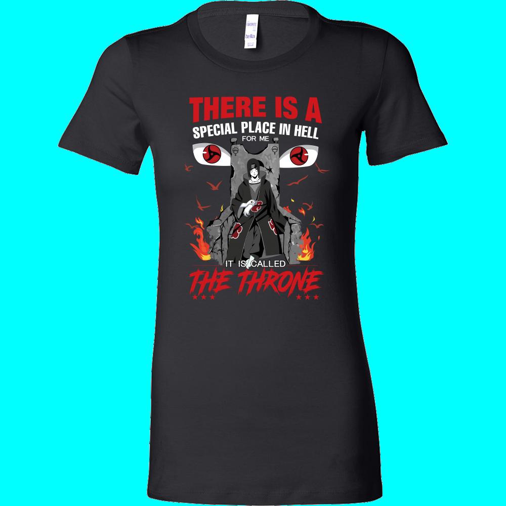 Naruto  Itachi Uchiha Throne  Woman Short Sleeve T Shirt