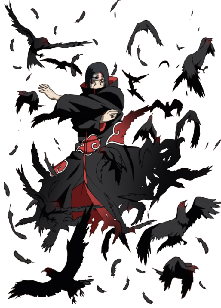 Itachi crow jutsu by xUzumaki  Arte naruto Anime