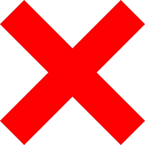 X Icon Clip Art at Clkercom  vector clip art online