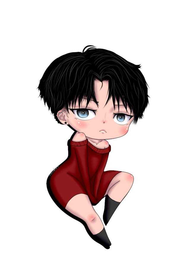 T1t4n  Ok i did something cute Drawing Chibi levi is the