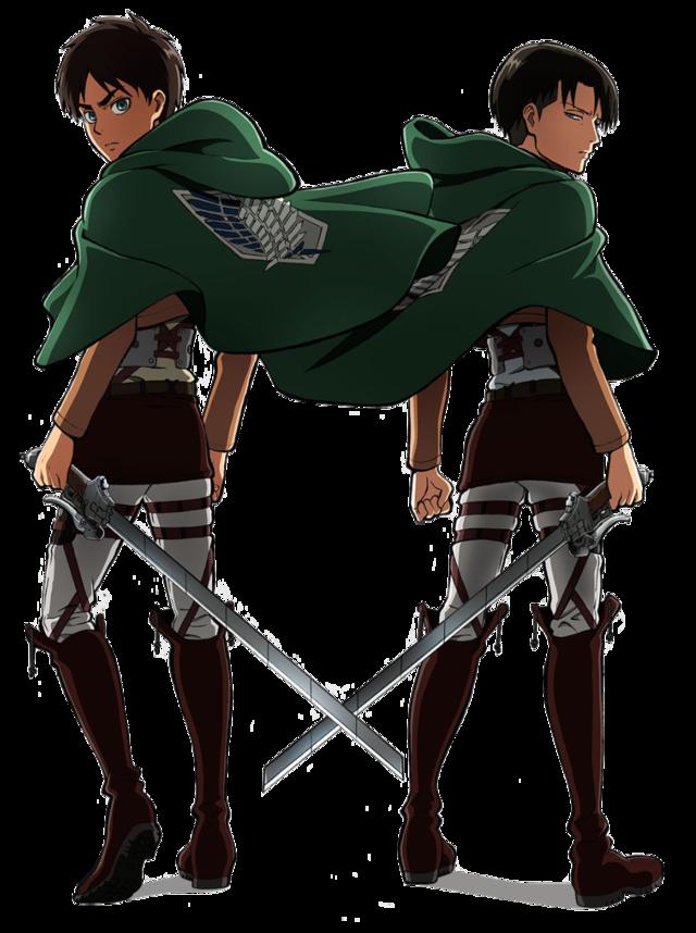 EreriMoments  Transparent Eren and Levi