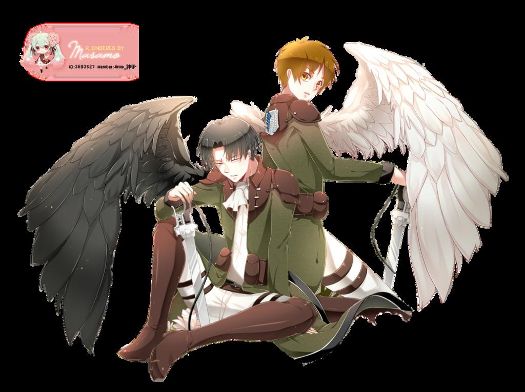 Attack on Titan Eren and Levi render by Masamo on DeviantArt