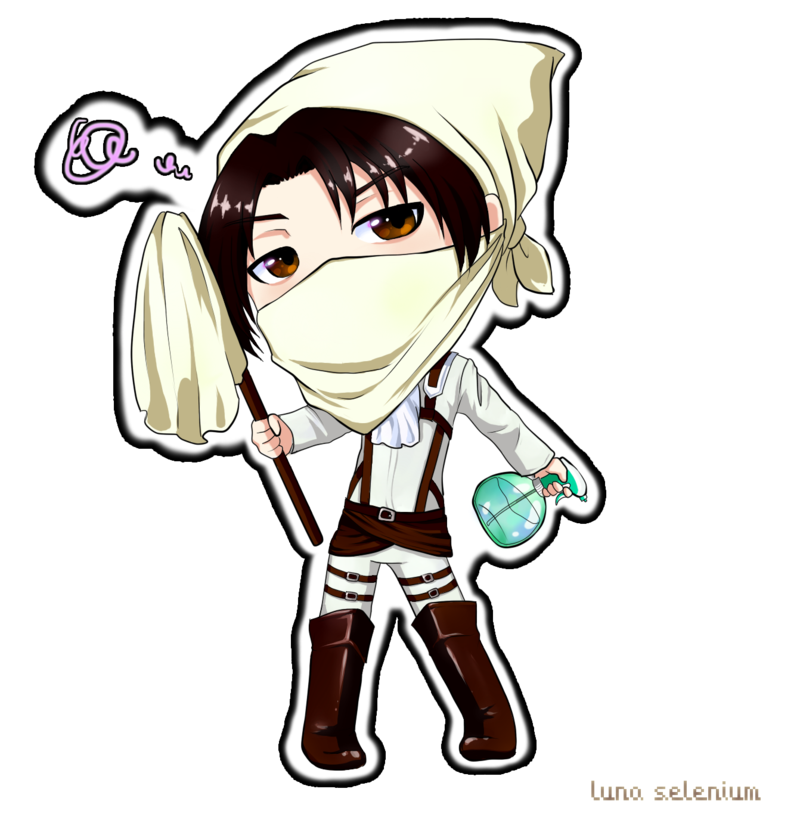 Chibi Heichou Cleaning  Cleaning Levi  Know Your Meme
