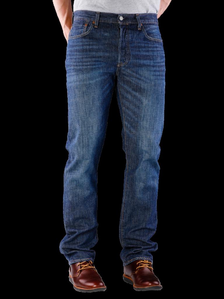 Levis 501 Jeans Straight Fit cheviot  Gratis Lieferung