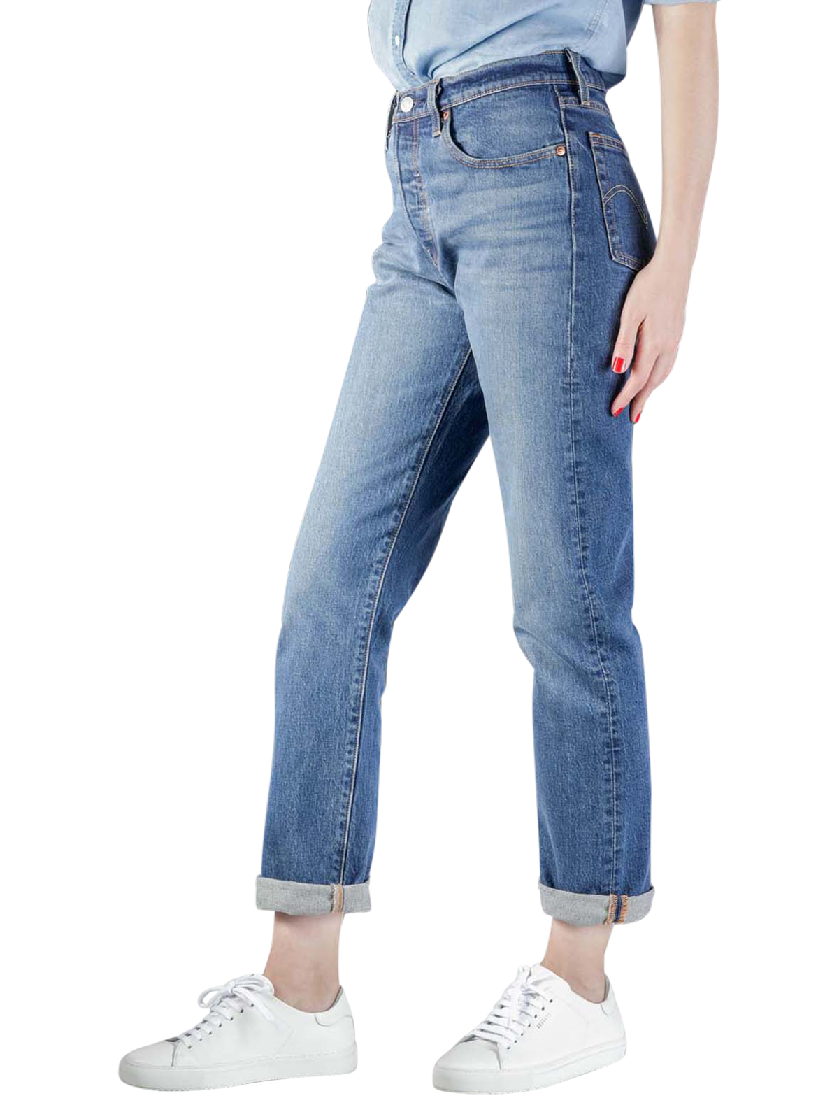 Levi's 501 Original Jeans Cropped charleston all day ... - Levi Strauss 501 Jeans