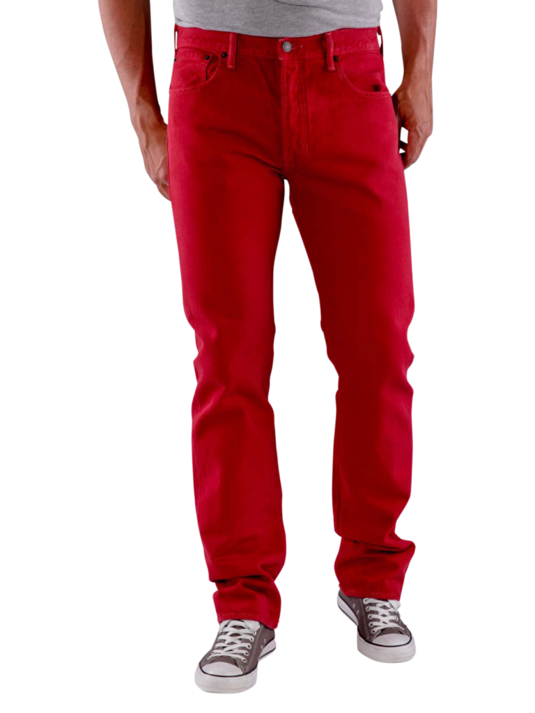 Levis 501 Jeans jester red  Levis Mens Jeans  JEANSCH