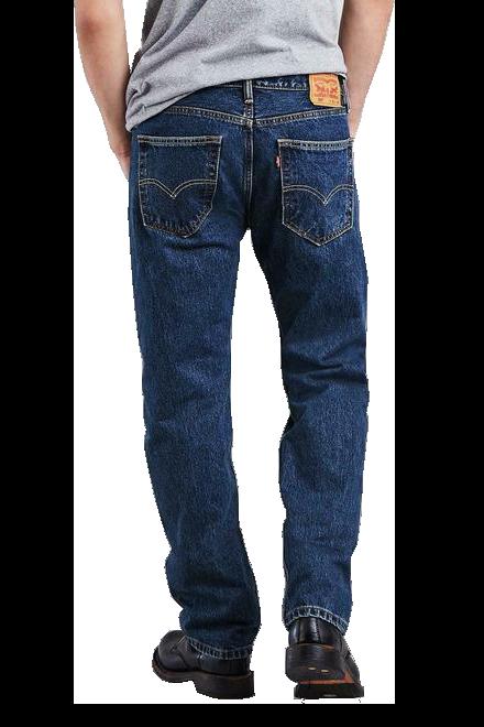 Levis Mens 505 Dark Stonewash Straight Fit Jeans  The