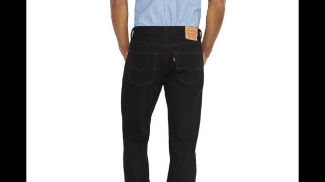 Levis Mens 505 Regular Fit Jean Black 35Wx30L for sale