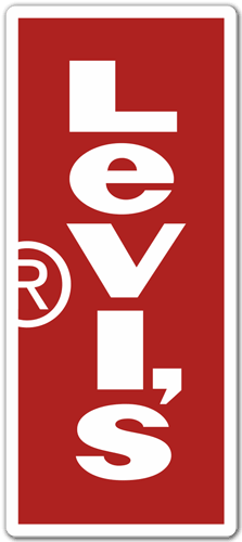 Pegatina Levis Vertical  TeleAdhesivocom