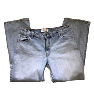 Levis Womens Size 14 Short Light Wash Stretch Mid Rise