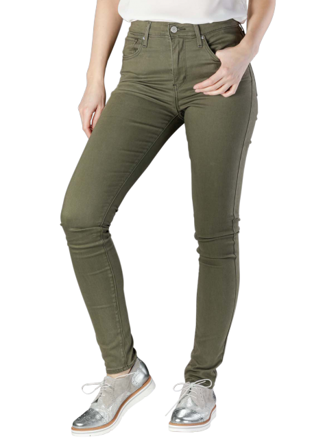 Levis 721 High Rise Skinny Jeans hypersoft t2 olive night