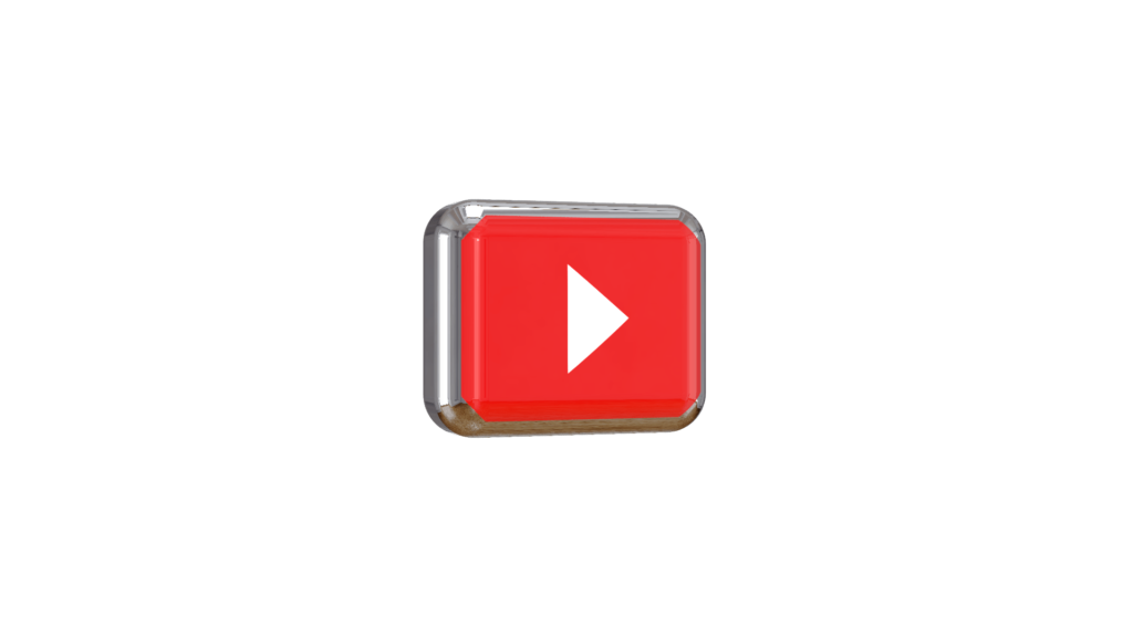 Youtube play button 3d png  MTC TUTORIALS
