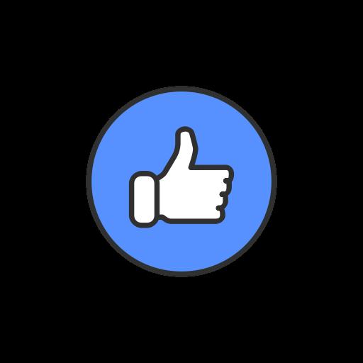 Emoji facebook like like button icon