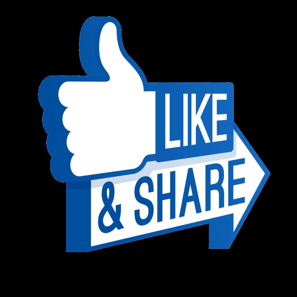 facebook logo like share png transparent background  Png